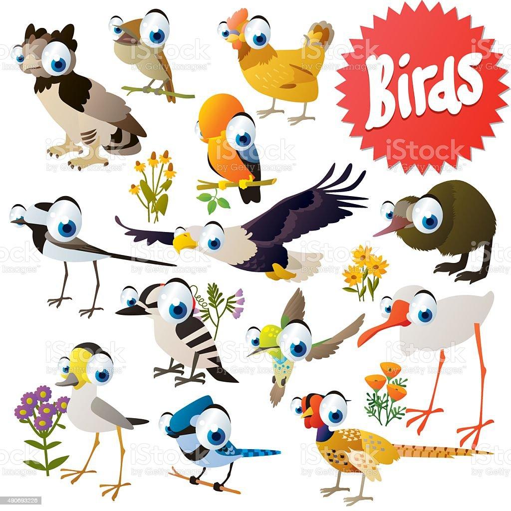 vector cartoon birds stock vector art amp more images of