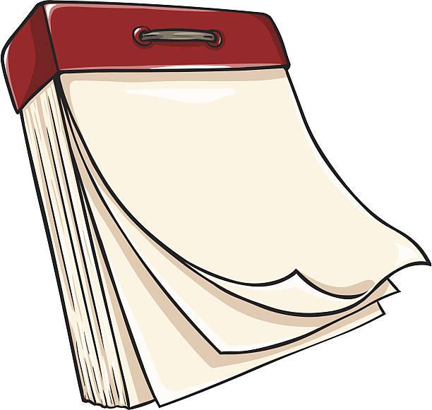 Blank Calendar Cartoon : Royalty free tear off calendar clip art vector images