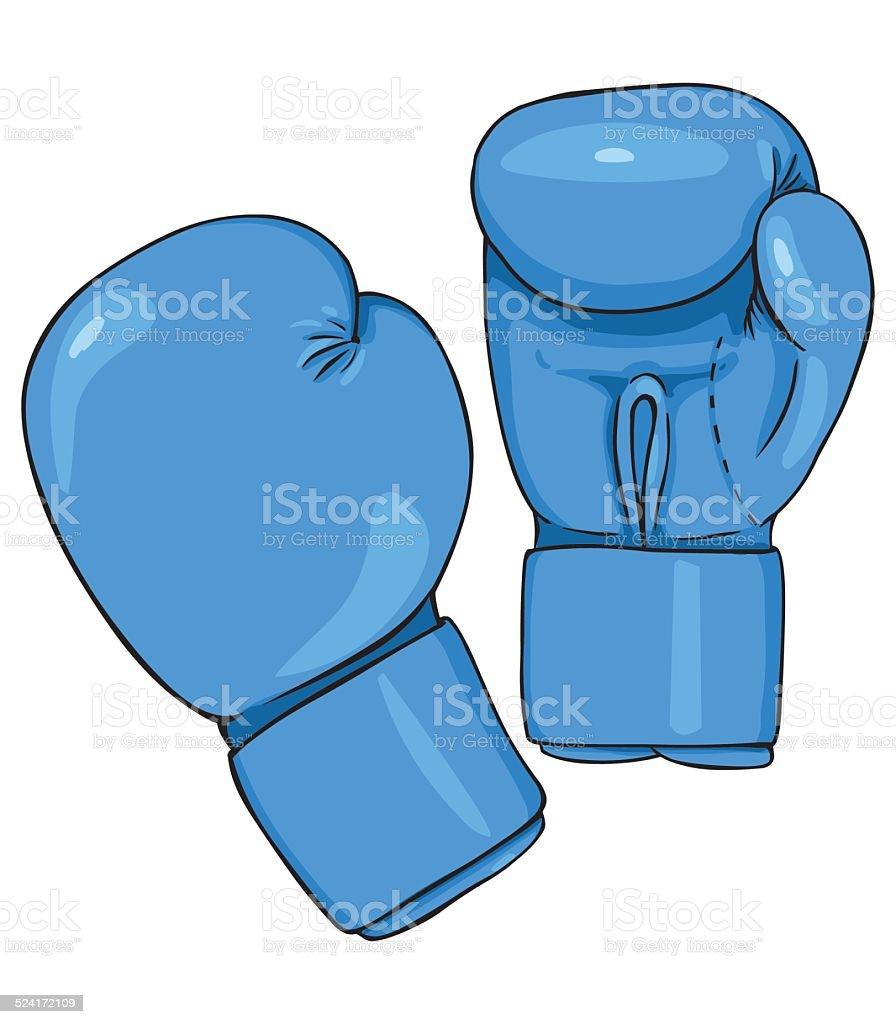 Vecteur dessin bleu gants de boxe stock vecteur libres de - Gant de boxe dessin ...