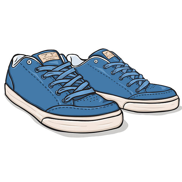 Royalty Free Running Shoes White Background Clip Art