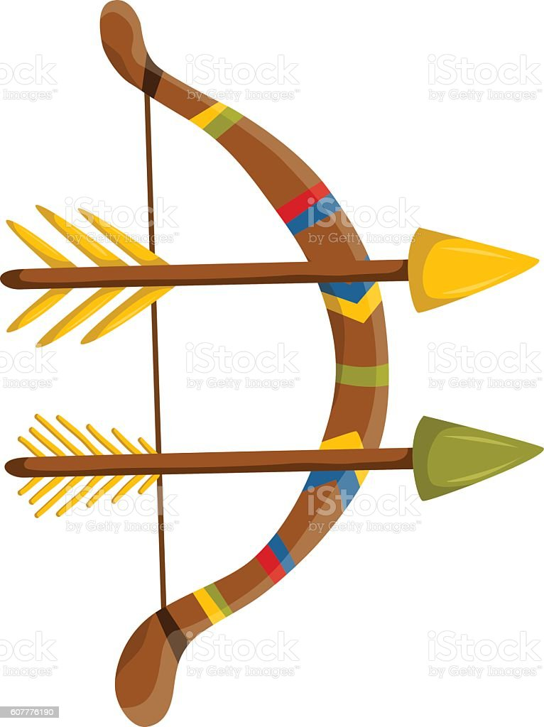 vector cartoon bow with arrows stock vector art more images of rh istockphoto com cartoon character with bow and arrow cartoon bow and arrow target