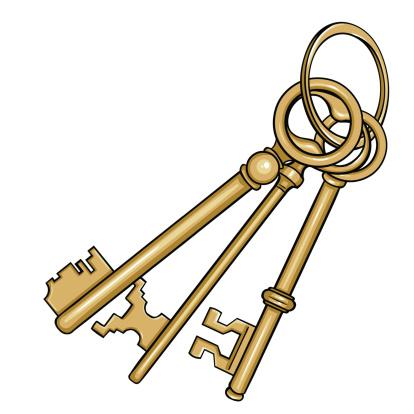 Vector Cartoon Bunch Of Antique Keys Stock Illustration ...