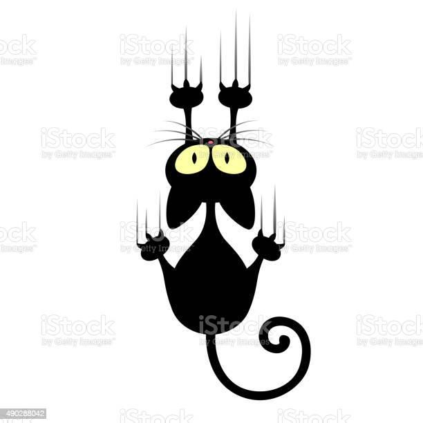 Vector cartoon cat scratching wall vector id490288042?b=1&k=6&m=490288042&s=612x612&h=u7j0yo4m6jopq1wigomb7w41e6 j gywyabadjq7nto=