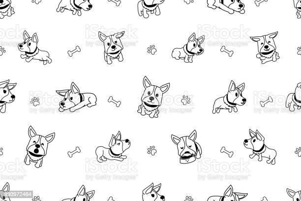 Vector cartoon character corgi dog seamless pattern vector id993972464?b=1&k=6&m=993972464&s=612x612&h=ophyrck0lhbi48typnpt78bo2sc4wmxbg136kc s  y=