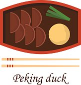 Vector cartoon chinese traditional peking duck