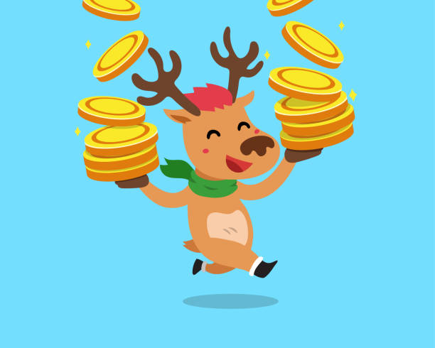 Best Santa Cash Illustrations, Royalty-Free Vector ...
