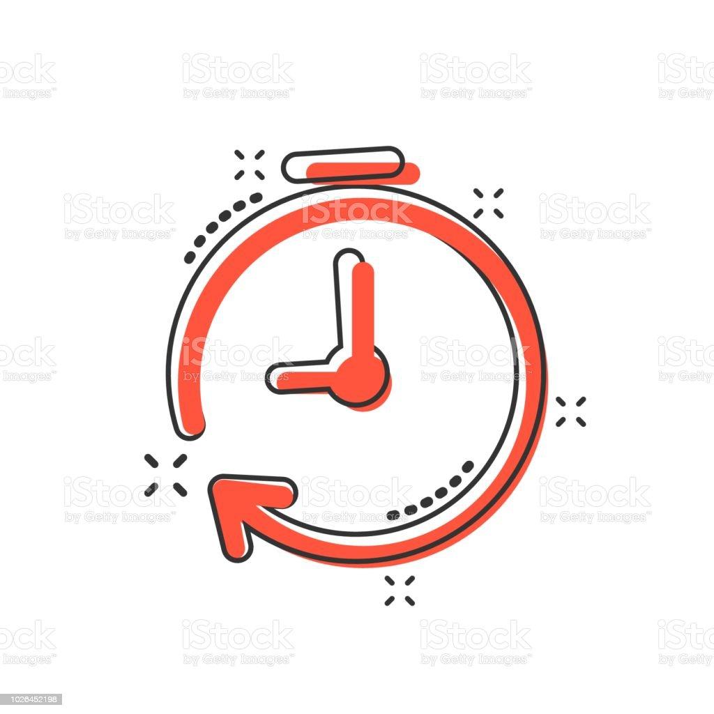Animados Del Ilustración El De Icono Reloj Vector Dibujos UzqGSpMLV