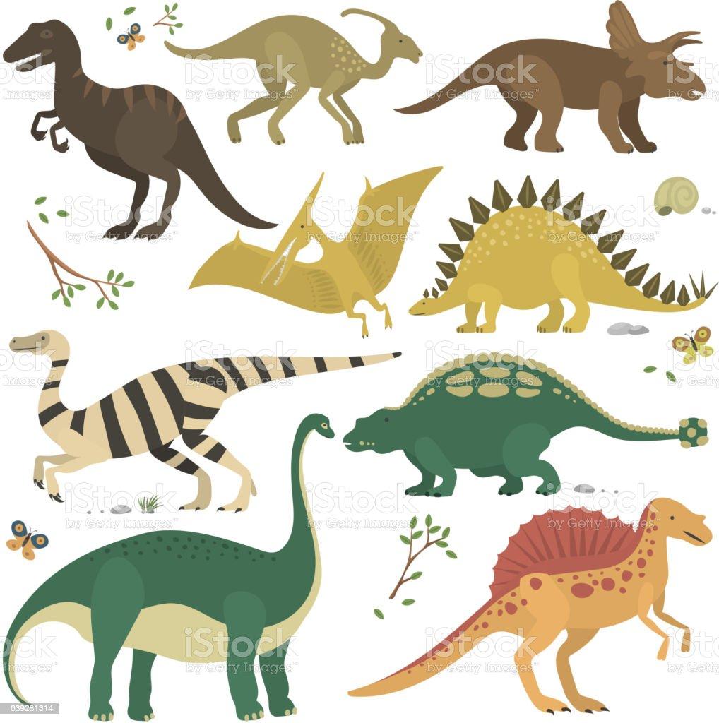 Vector cartoon dinosaurs. vector art illustration