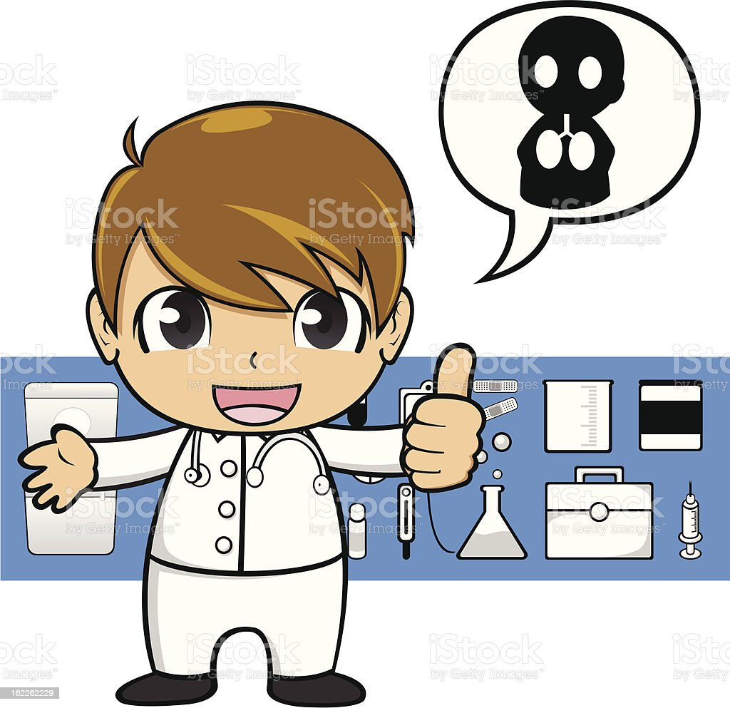 Vector Cartoon Doctor royalty-free stock vector art