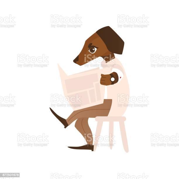 Vector cartoon dog character reading newspaper vector id872501678?b=1&k=6&m=872501678&s=612x612&h=krx4sc1phea1vrdz5qvth6lumjmg4nia3po29l7yhoa=