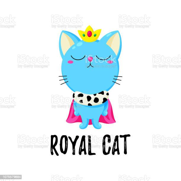 Vector cartoon doodle kitten in a crown cat king template for print vector id1075579884?b=1&k=6&m=1075579884&s=612x612&h=xrubck 7iw svmllvvabisdn cuxqvxpiqy7uynypne=