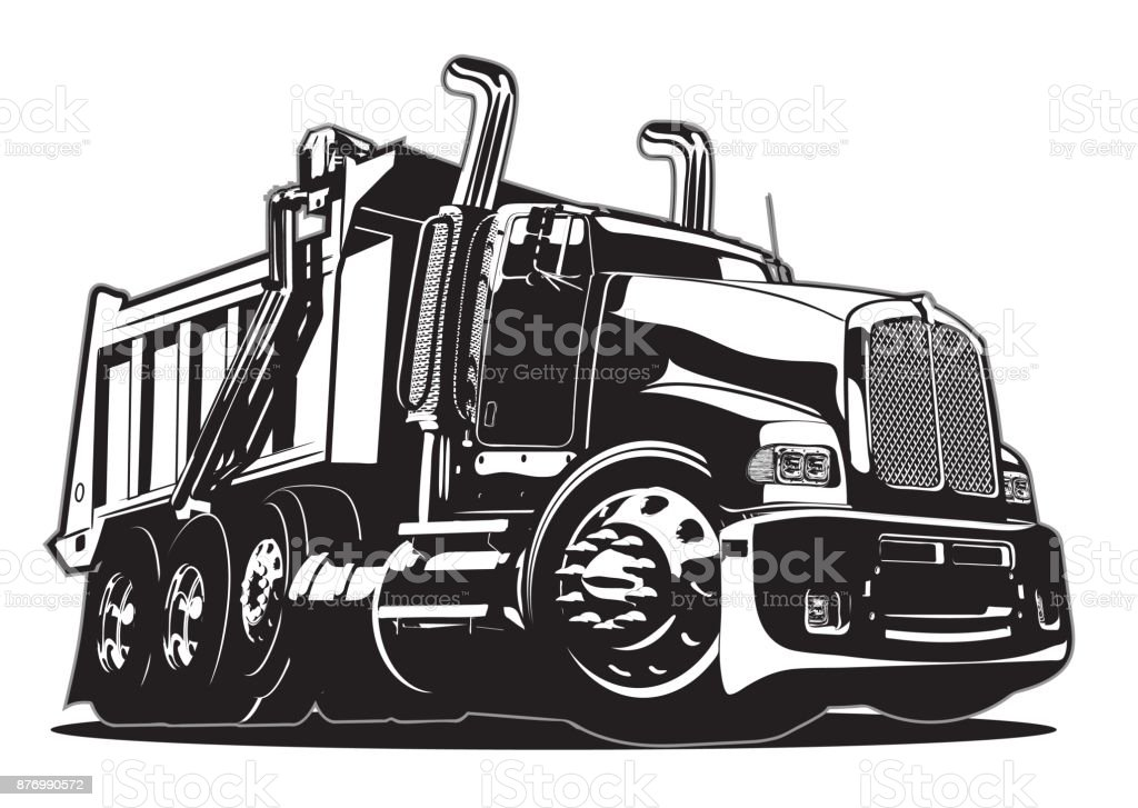 Vector Cartoon Dump Truck Stock Illustration - Download ...