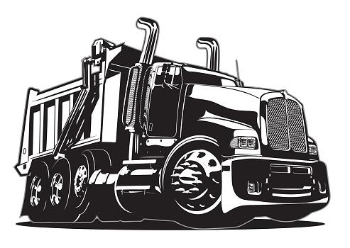 Vector Cartoon Dump Truck Stock Illustration - Download ...Kenworth Dump Trucks Graphics