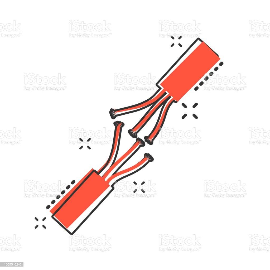 Vector Cartoon Elektrische Stecker Zeichen Symbol Im Comicstil Strom ...