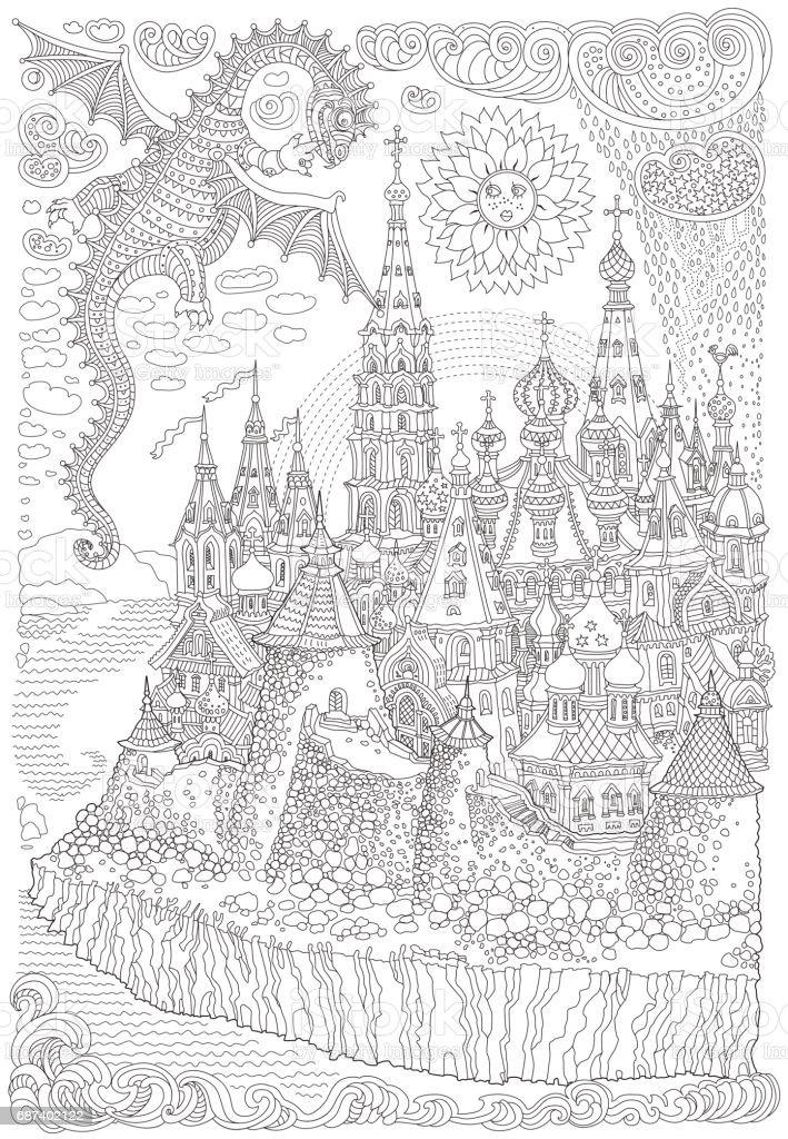 Ilustración de Vector De Dibujos Animados Hadas Un Dragón Volador ...