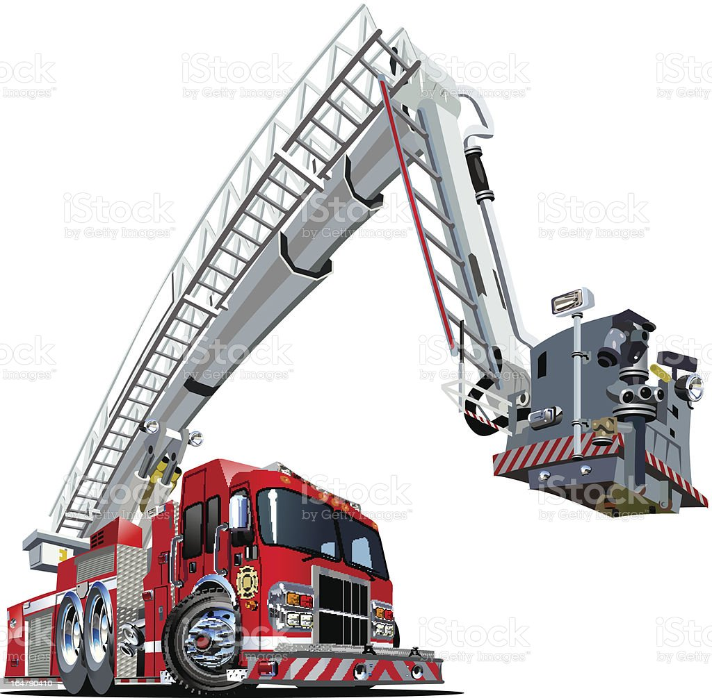 Vector Cartoon Fire Truck royalty-free vector cartoon fire truck stock vector art & more images of accidents and disasters