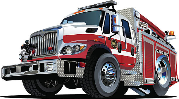 Vector Cartoon Fire Truck Vector Cartoon Fire Truck Hotrod. Available EPS-10 vector format separated by groups and layers for easy edit fire engine stock illustrations