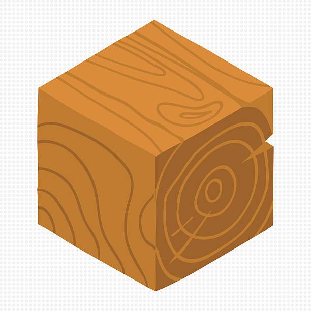 Vector cartoon flat isometric game brick cube. vector art illustration