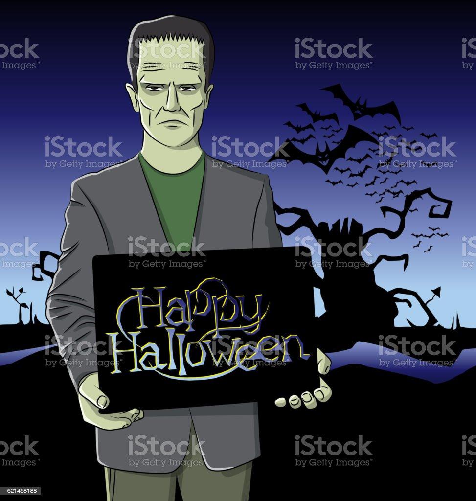 Vector Cartoon Frankenstein Halloween Lizenzfreies vector cartoon frankenstein halloween stock vektor art und mehr bilder von achtlos