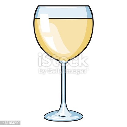 Vector Cartoon Glass Of White Wine Stock Vector Art Amp More