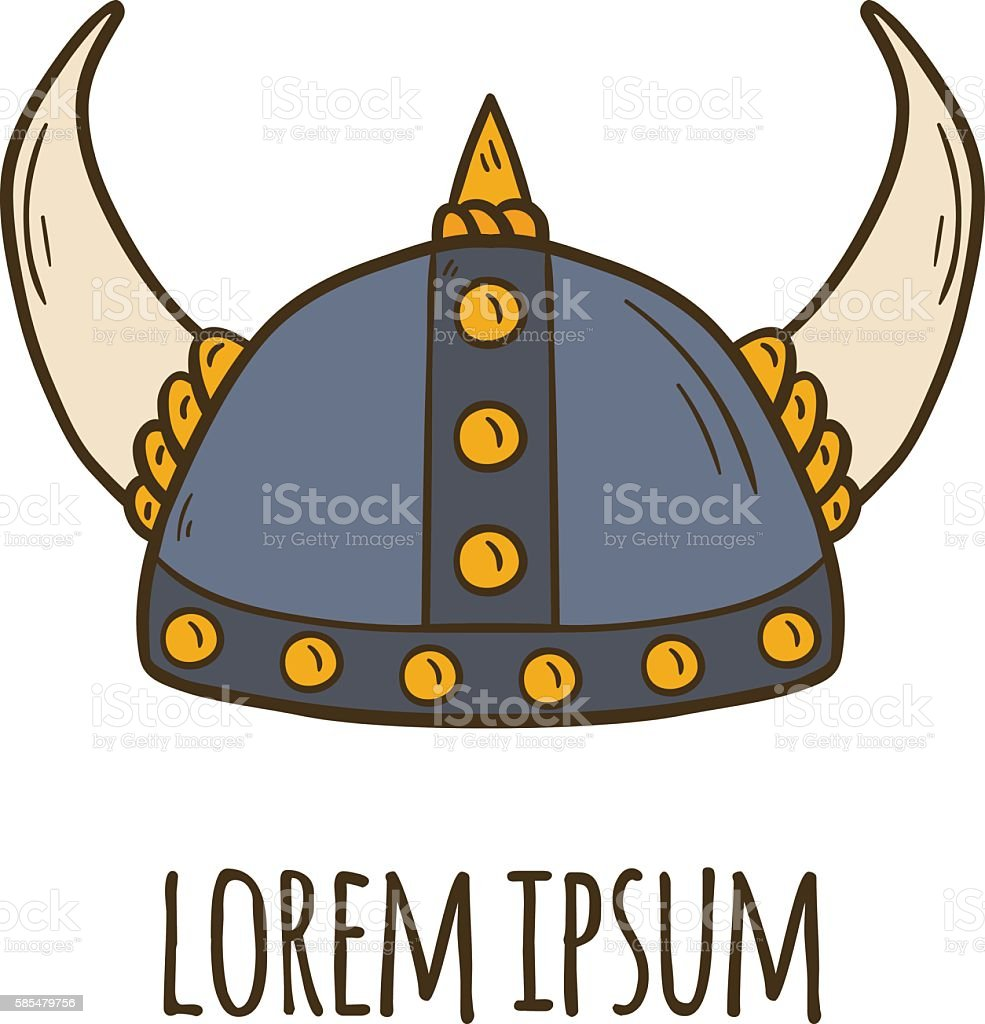 royalty free viking helmet clip art vector images illustrations rh istockphoto com Viking Helmet Drawing Viking Helmet Drawing