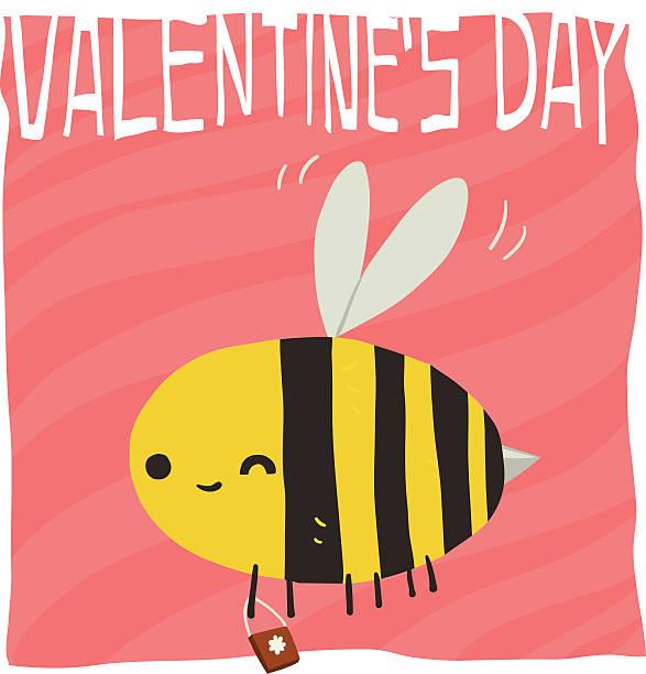 Vector cartoon Happy valentine s day. vector art illustration