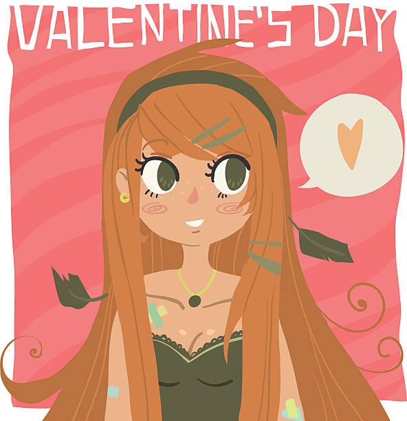 Vector cartoon Happy valentine's day. vector art illustration