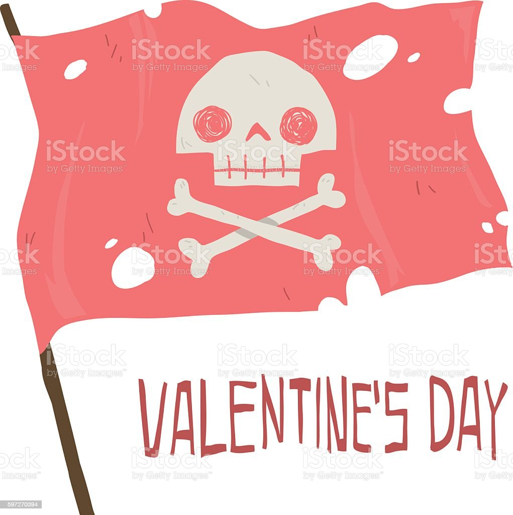 Vector cartoon Happy valentine's day. royalty-free vector cartoon happy valentines day stock vector art & more images of backgrounds