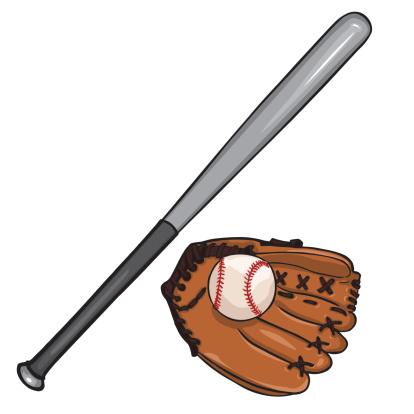 Download Vector Cartoon Illustraition Baseball Bat Ball And Glove ...