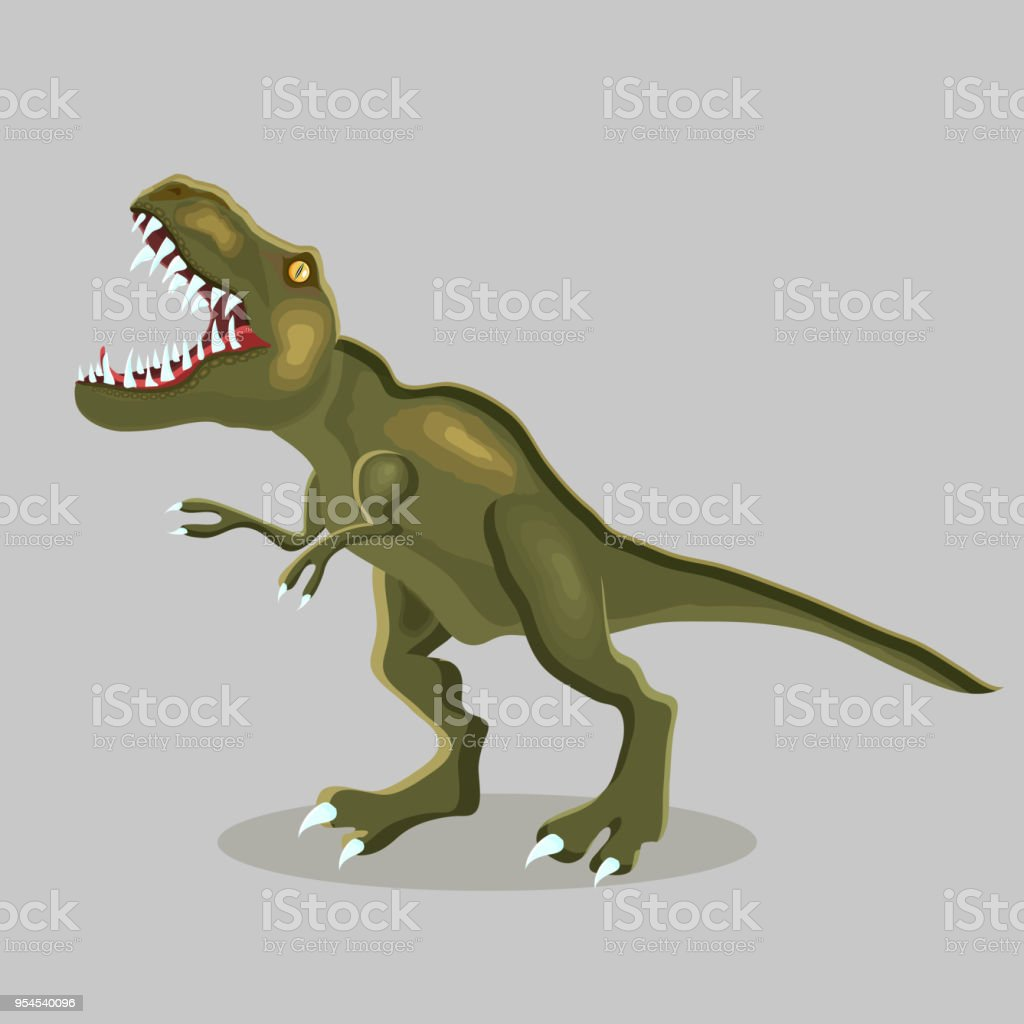 Vektör Karikatür çizim Bir Dinozor Trex Tyrannosauru Stok Vektör