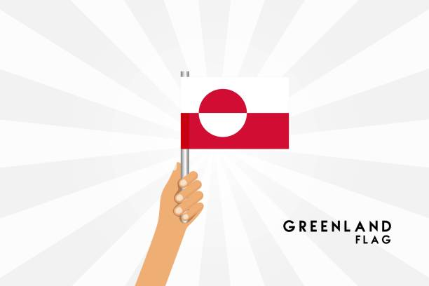 Vector cartoon illustration of human hands hold Greenland flag. Isolated object on white background. Vector cartoon illustration of human hands hold Greenland flag. Isolated object on white background. greenland shark stock illustrations