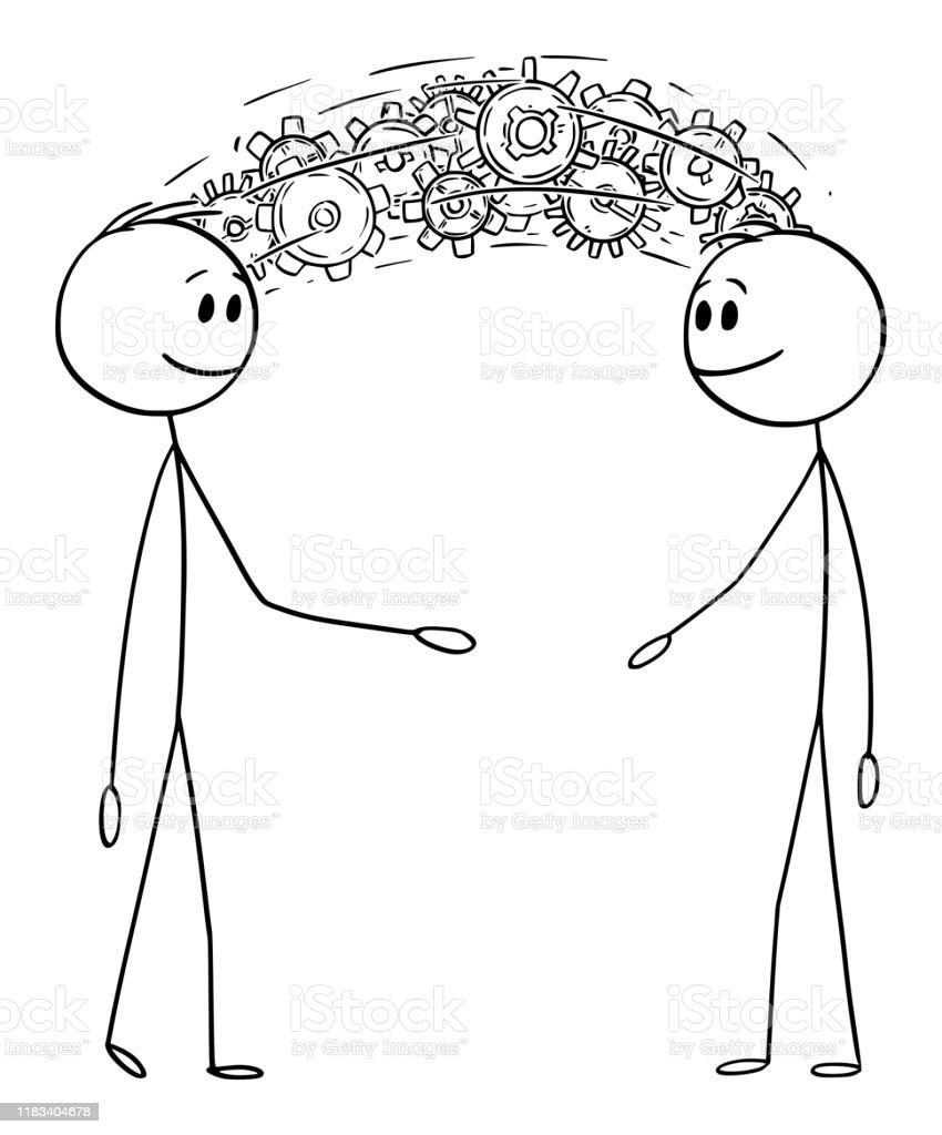 Ilustración de Ilustración De Dibujos Animados Vectoriales De Dos ...