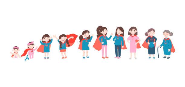 ilustrações de stock, clip art, desenhos animados e ícones de vector cartoon illustration - super baby