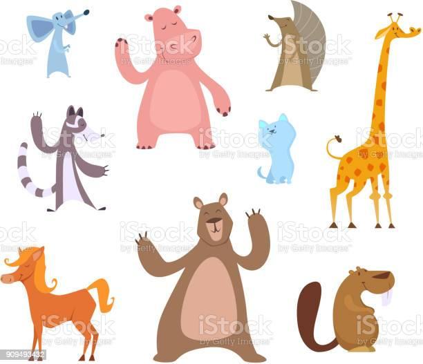 Vector cartoon illustrations of funny animals vector id909493432?b=1&k=6&m=909493432&s=612x612&h=ypeijmrh8swoaz1uawl ttxxvfnigpeylgm09 emxli=