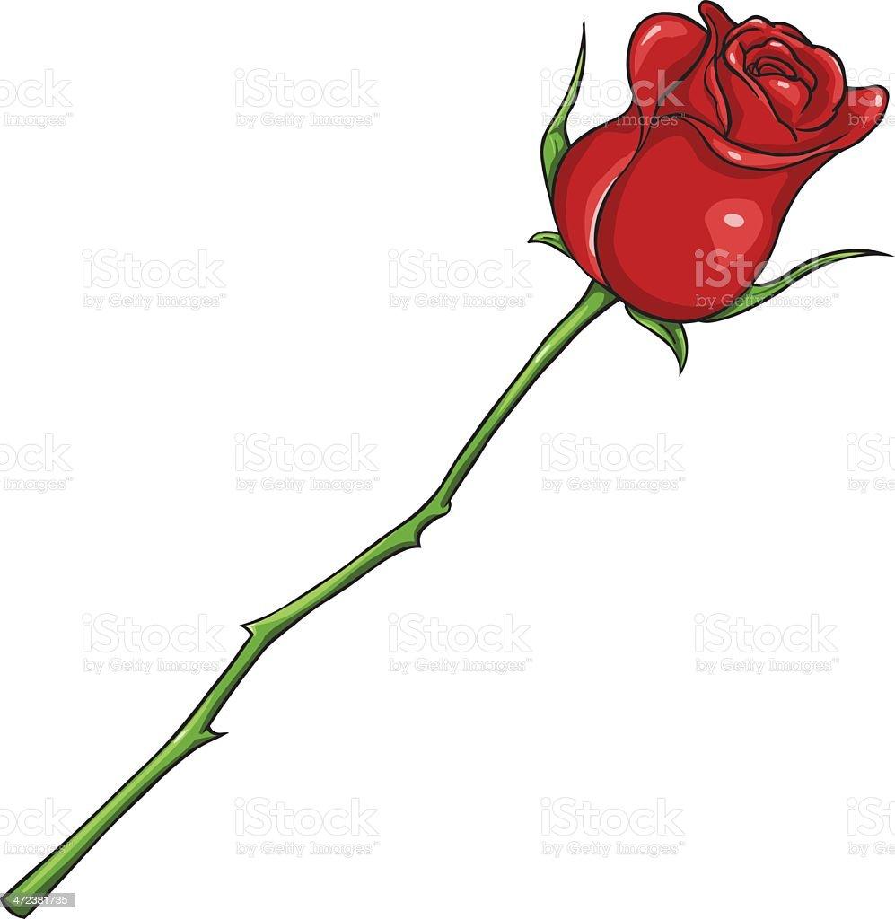 Vecteur dessin animé rose rouge isolé illustration vecteur dessin animé rose rouge isoléillustration cliparts