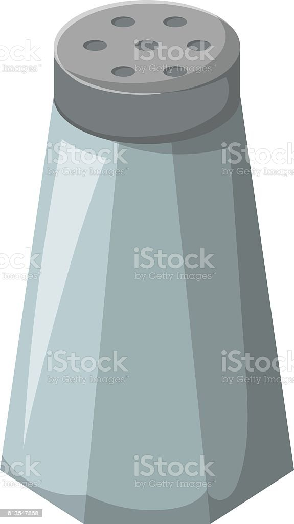 Vector cartoon isolated salt cellar vector art illustration