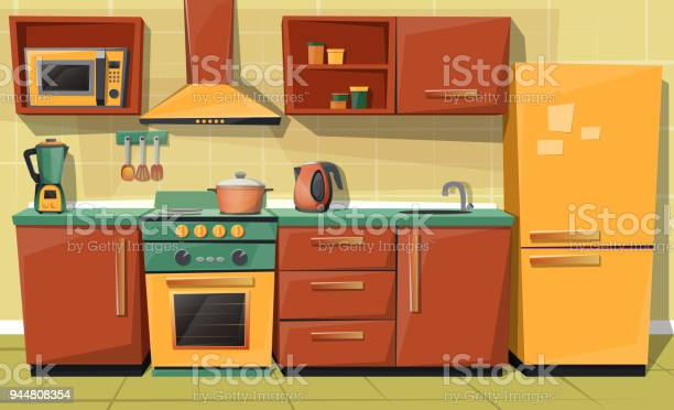 Vector cartoon kitchen counter with appliances furniture vector id944808354?b=1&k=6&m=944808354&s=612x612&h=iki3mjtdo8mdsvqkcighenauoi6 kjejkpagwqjqy0y=