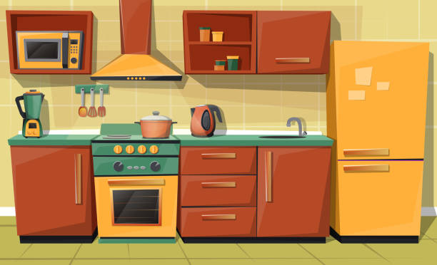Top 60 Stove Top Clip Art, Vector Graphics And