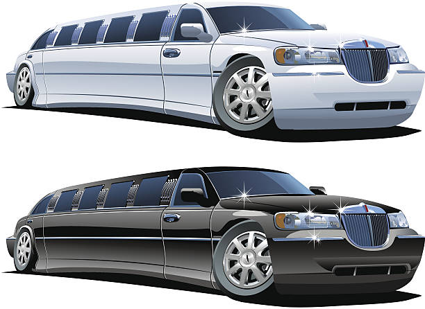 Vector cartoon limousines Vector cartoon limousines. Available .eps-8 .ai-10 .cdr-9 vector formats separated by groups and layers infamous stock illustrations