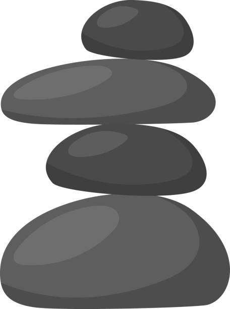 vector cartoon massage relax stones - pebbles stock illustrations, clip art, cartoons, & icons