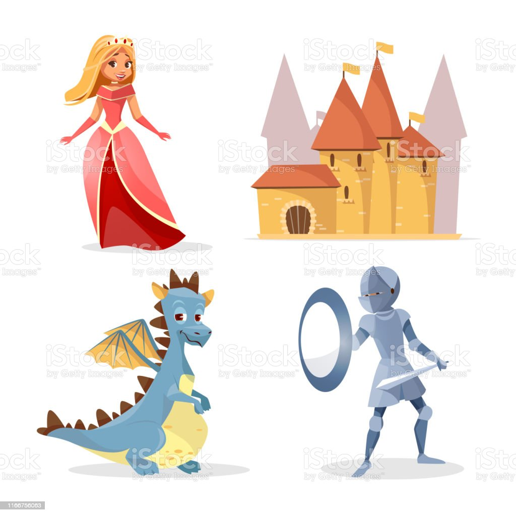 Vector Cartoon Medieval Fairy Tale Characters Set Stock Illustration Download Image Now Istock