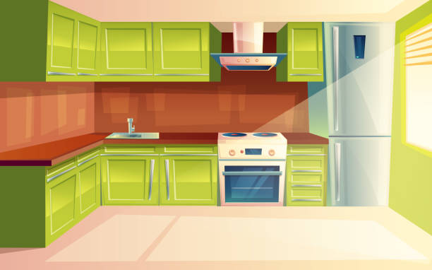 Kitchen Cabinet Illustrations, Royalty-Free Vector ...