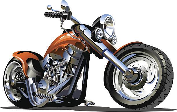 vector cartoon motorbike - motorcycle stock illustrations, clip art, cartoons, & icons