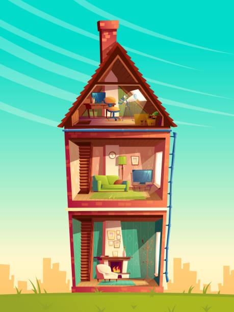 Best Attic Illustrations Royalty Free Vector Graphics