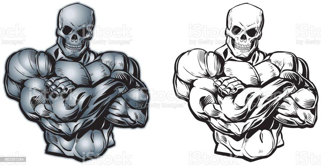 Excelente Muscular Del Brazo De Dibujos Animados Foto - Imágenes de ...