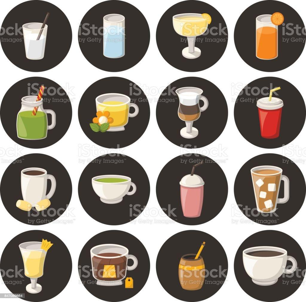 Vector Cartoon Alkoholfreie Getränke Stock Vektor Art und mehr ...