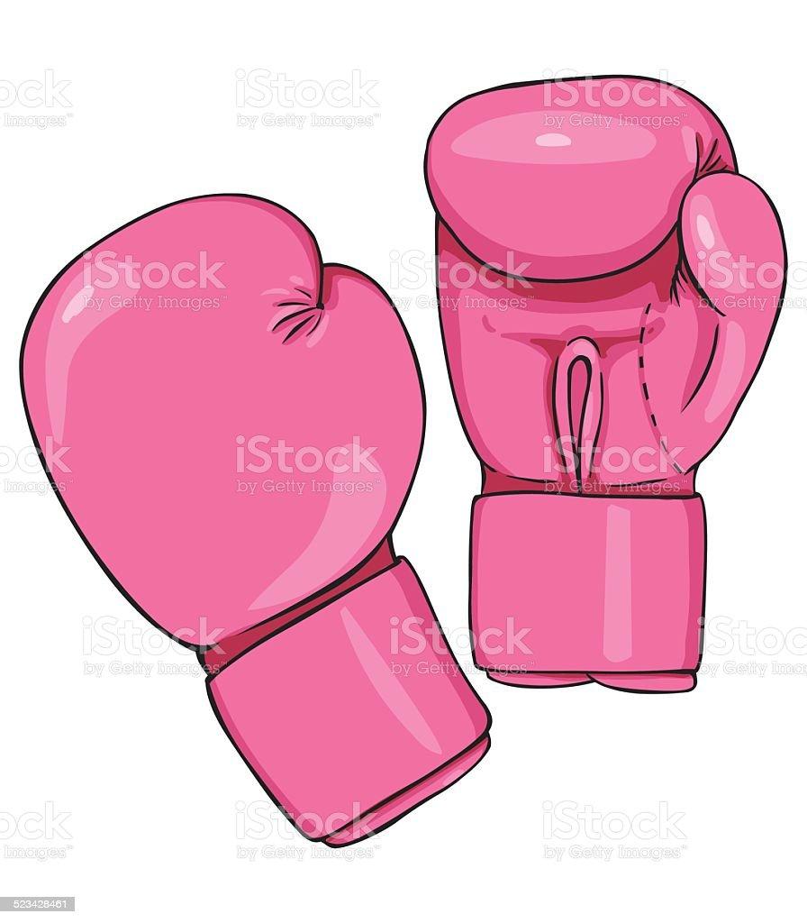ilustración de vector de dibujos animados de color rosa guantes de