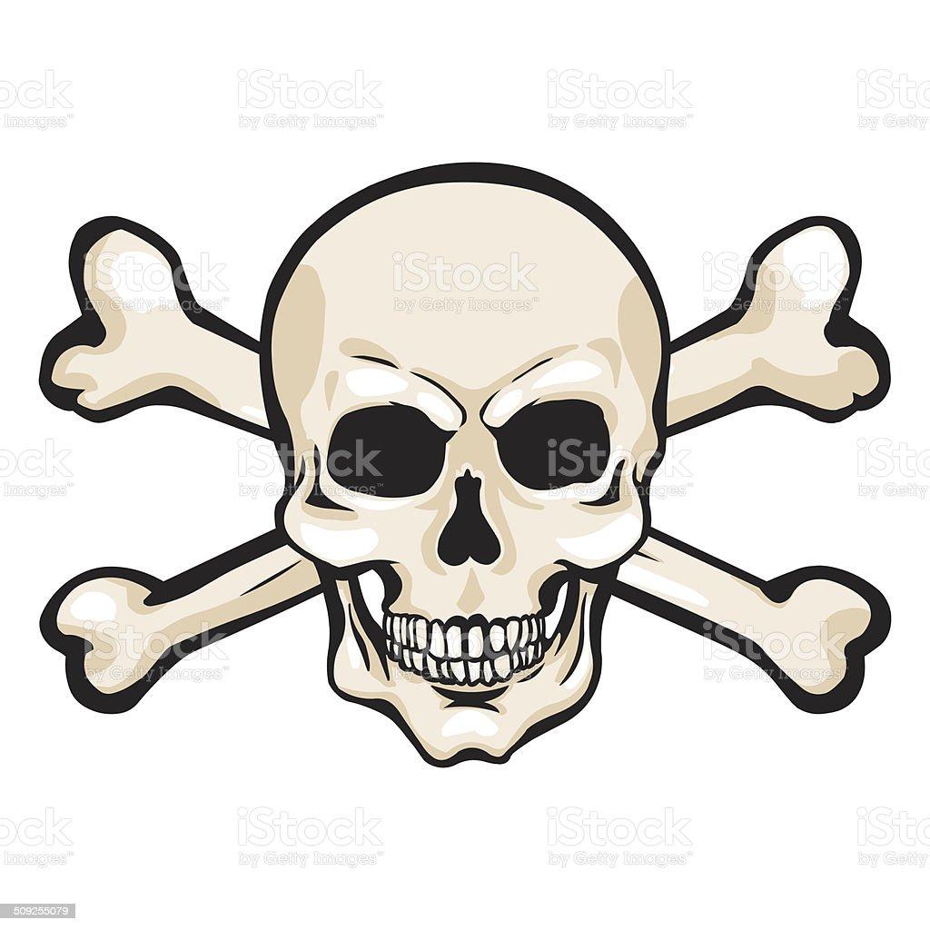 Immagini Di Teschio Pirati vettore fumetto di pirata teschi e ossa incrociate