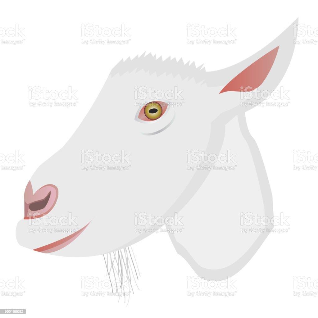 Vector cartoon portrait of small goat vector cartoon portrait of small goat - stockowe grafiki wektorowe i więcej obrazów biały royalty-free