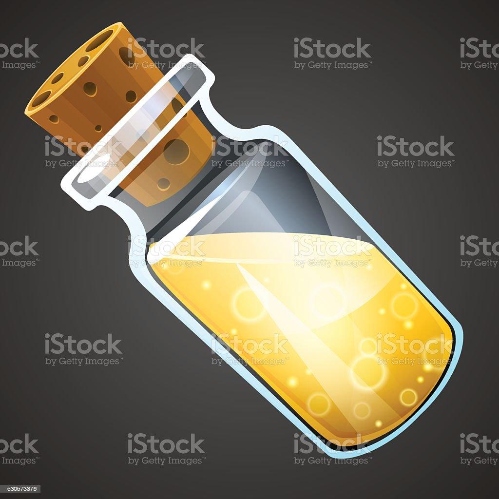 Vector cartoon potion bottle. vector art illustration